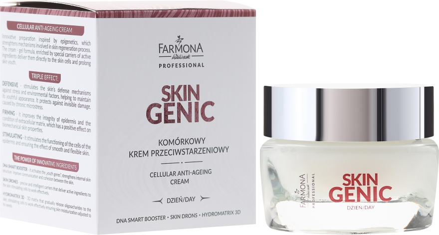 Komórkowy krem przeciwstarzeniowy na dzień - Farmona Professional Skin Genic