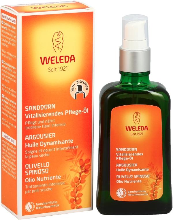 Odżywczy olejek rokitnikowy w sprayu do ciała - Weleda Sanddorn Vitalisierendes Pflegeol Dispenser — фото N2