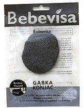 Kup Gąbka konjac do mycia twarzy, owalna Bambus i węgiel - Bebevisa Konjac Sponge