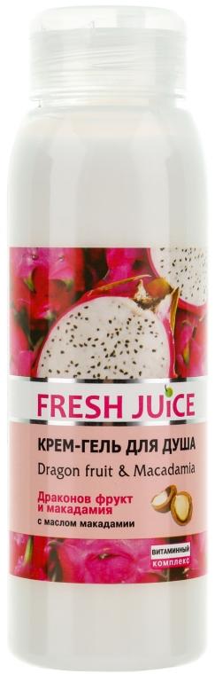Kremowy żel pod prysznic Smoczy owoc i makadamia - Fresh Juice Energy Mix Dragon Fruit & Macadamia — фото N1