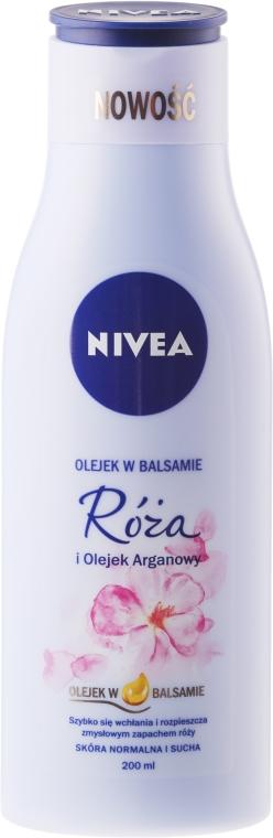 Olejek w balsamie Róża i olej arganowy - Nivea Balm With Rose & Argan Oil — фото N1