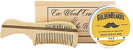 Kup Zestaw - Golden Beards Moustache Wax Kit + Comb (wax 15 ml + comb)