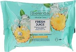 Kup Micelarne chusteczki do demakijażu twarzy, oczu i ust Ananas - Bielenda Fresh Juice