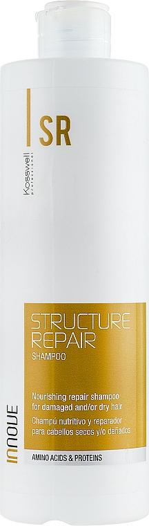 Odżywczy szampon regenerujący do włosów suchych i zniszczonych - Kosswell Professional Innove Structure Repair Shampoo — фото N1