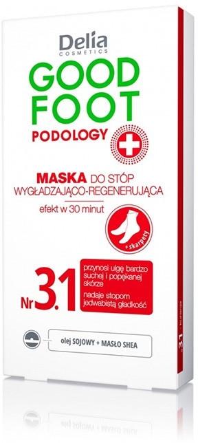 Wygładzająco-regenerująca maska do stóp - Delia Cosmetics Good Foot Podology Nr 3.1