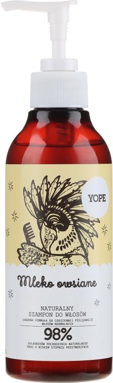 Naturalny szampon do włosów normalnych - Yope Mleko owsiane