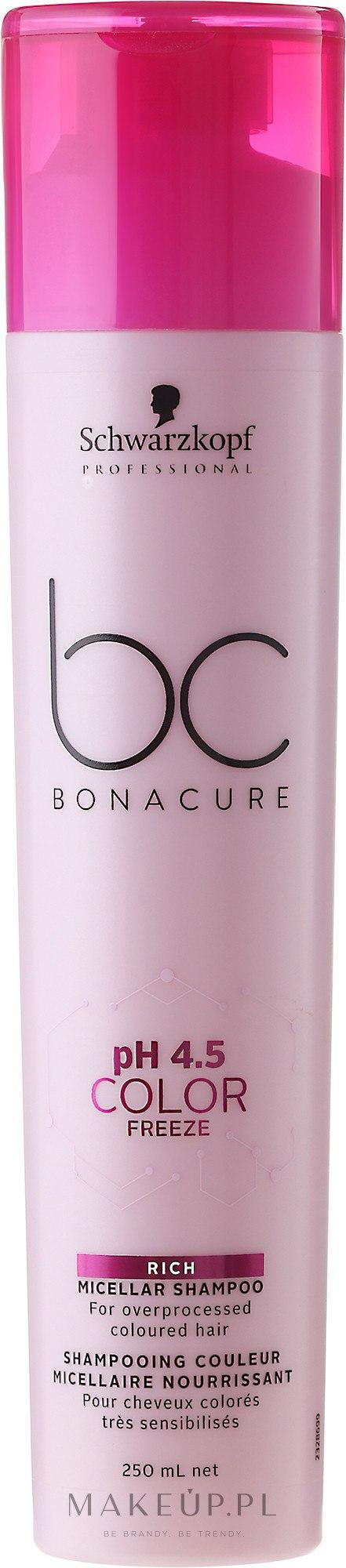 Micelarny szampon do włosów farbowanych - Schwarzkopf Professional Bonacure Color Freeze Rich Micellar Shampoo — фото 250 ml