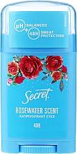 Kup Antyperspirant w sztyfcie z wodą różaną - Secret Antiperspirant Stick Rosewater Scent