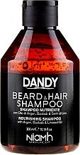 Odżywczy szampon do włosów i brody dla mężczyzn - Niamh Hairconcept Dandy Beard & Hair Nourishing Shampoo — фото N1