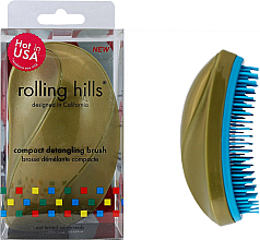 Kup Kompaktowa szczotka do włosów - Rolling Hills Compact Detangling Brush Gold