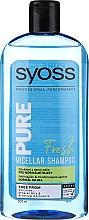 Kup Micelarny szampon do włosów normalnych - Syoss Pure Fresh Micellar Shampoo