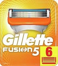 Kup Wymienne wkłady do maszynki, 6 szt. - Gillette Fusion