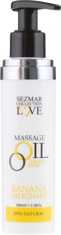 Olejek do masażu Mleczny koktajl bananowy - Sezmar Collection Love Massage Oil — фото N2