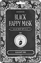 Kup Oczyszczająca maska do twarzy w płachcie - Kocostar Black Happy Mask