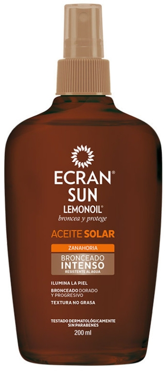 Intensywny olejek do opalania - Ecran Sun Lemonoil Intensive Tanning Oil Spf2 — фото N1