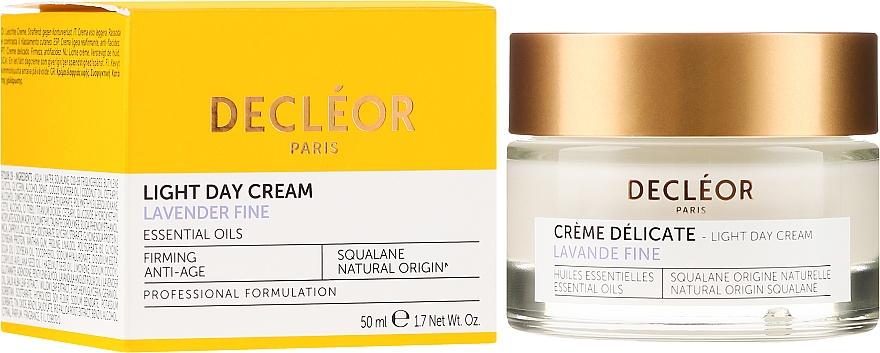 Nawilżający krem do twarzy - Decleor Light Day Cream Lavender Fine Firming Anti-Age — фото N1