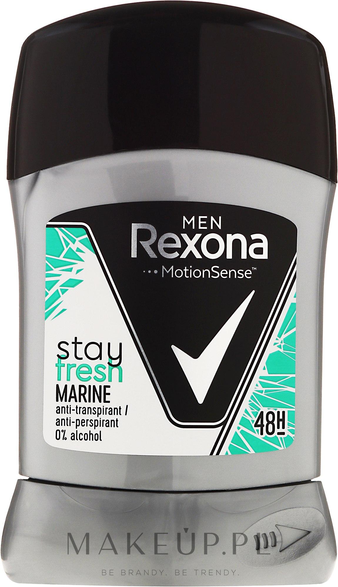 Antyperspirant w sztyfcie - Rexona Men MotionSense Stay Fresh Marine Deodorant Stick — фото 50 ml