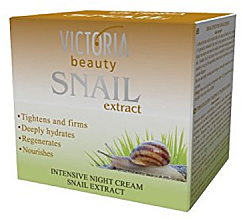 Kup Intensywny krem do twarzy na noc z ekstraktem ze śluzu ślimaka - Victoria Beauty Intensive Night Cream With Snail Extract