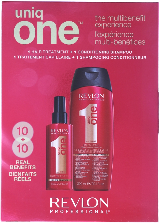 Zestaw - Revlon Professional Uniq One (spray/mask 150 ml + shm/cond 300 ml)