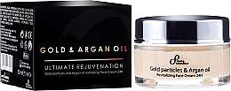 Kup Odmładzający krem do twarzy z olejem arganowym i cząsteczkami złota - Sayaz Cosmetics Gold Particles And Argan Oil Revitalizing Face Cream 24H