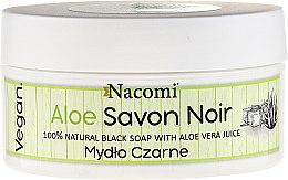 Kup 100% naturalne mydło czarne z sokiem z aloesu - Nacomi Vegan Aloe Savon Noir