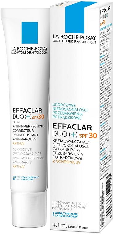 Krem zwalczający niedoskonałości skóry SPF 30 - La Roche-Posay Effaclar Duo (+) — фото N3