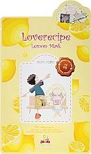 Kup Rozjaśniająco-nawilżająca celulozowa maska w płachcie do twarzy z wyciągiem z cytryny - Sally's Box Loverecipe Lemon Mask