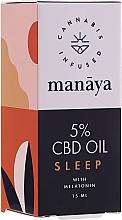 Kup Olej CBD ułatwiający zasypianie - Manaya 5 % CBD Oil Sleep With Melatonin