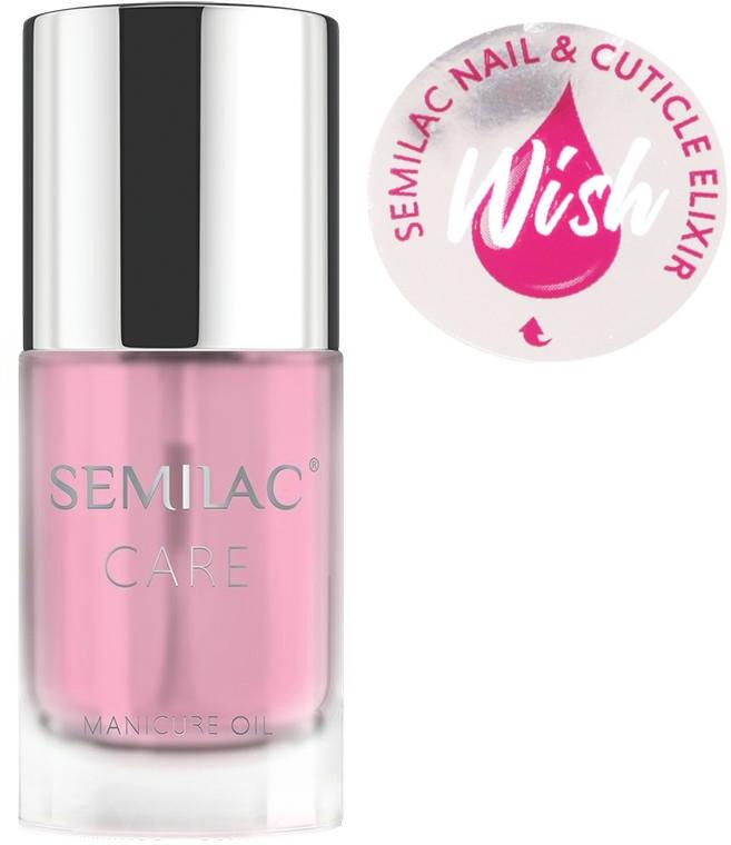 Olejek-eliksir do paznokci i skórek o zapachu wanilii i karmelu - Semilac Care Nail & Cuticle Elixir Wish — фото N1