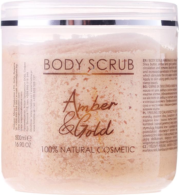 Naturalny peeling do ciała Bursztyn i złoto - Sezmar Collection Professional Body Scrub Amber & Gold — фото N1