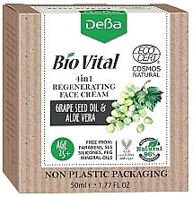 Kup Rewitalizujący krem do twarzy Olej z pestek winogron i aloes - DeBa Bio Vital Regenerating Face Cream 4in1