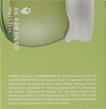 Winogronowy krem do twarzy wyrównujący gospodarkę hydrolipidową - Frudia Pore Control Green Grape Cream — фото N3