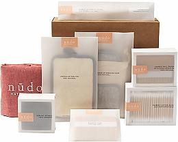 Kup Zestaw - Nudo Nature Made Starter Kit (cotton buds 200 pcs + h/brush + n/brush + toothbrush + sh/sponge + f/sponge + bag + pads)