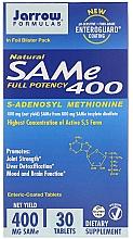 Suplement diety S-adenozylometionina w tabletkach w otoczce jelitowej - Jarrow Formulas SAM-e 400 (S-Adenosyl-L-Methionine) 400 mg — фото N1