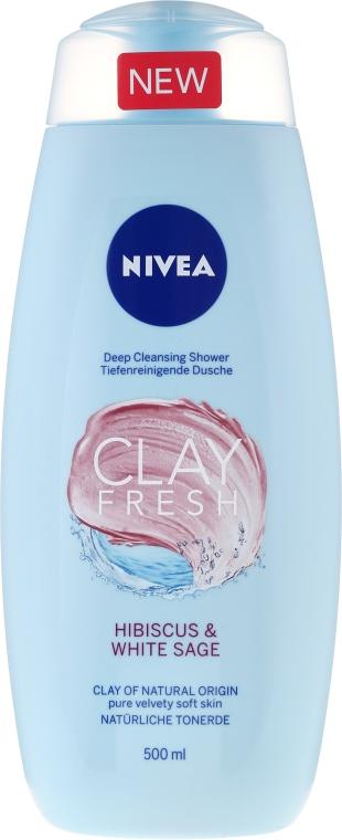 Żel pod prysznic z glinką Hibiskus i biała szałwia - Nivea Clay Fresh Hibiscus & White Sage