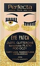 Kup Rozświetlające płatki pod oczy - Perfecta Gold Glitter Eye Patch