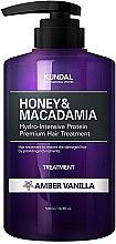 Kup Intensywnie nawilżająca kuracja proteinowa do włosów zniszczonych Ambra i wanilia - Kundal Honey & Macadamia Amber Vanilla Treatment