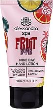 Kup Balsam do rąk Kwas hialuronowy i kawior - Alessandro International Spa Fruit Bomb Hand Lotion