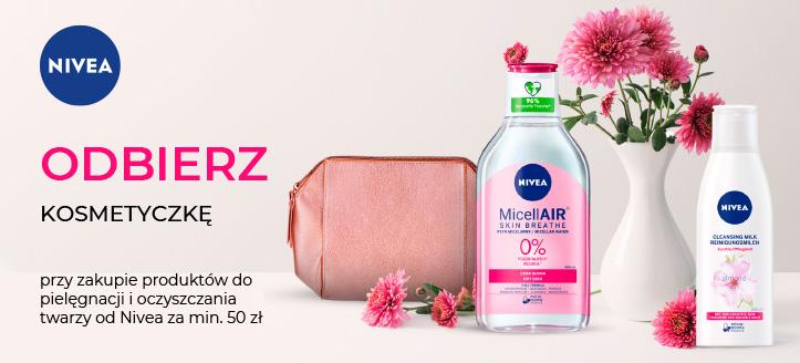 Kup produkty z serii Visage od Nivea za min. 50 zł, a kosmetyczkę otrzymasz w prezencie.