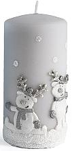 Kup Świeca dekoracyjna, biała 7 x 10 cm - Artman Happy Ren