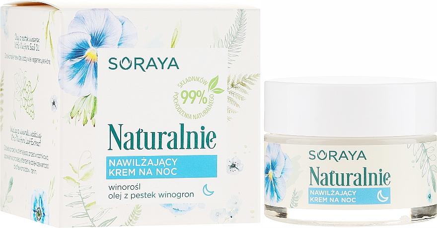 Nawilżający krem do twarzy na noc - Soraya Naturalnie