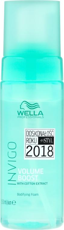 Teksturyzujący mus z ekstraktem z bawełny dodający włosom objętości - Wella Professionals Invigo Volume Boost Bodifying Foam — фото N1