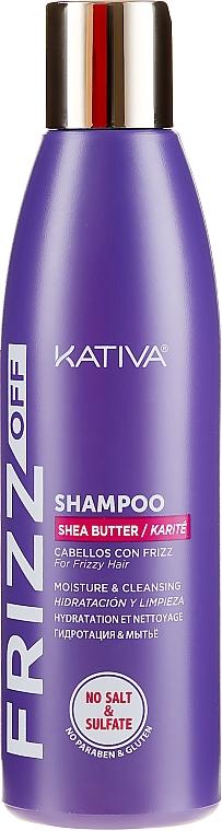 Nawilżający szampon do włosów - Kativa Frizz Off Shampoo — фото N1