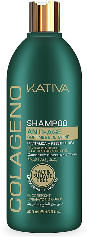 Rewitalizujący szampon do włosów - Kativa Colageno Shampoo