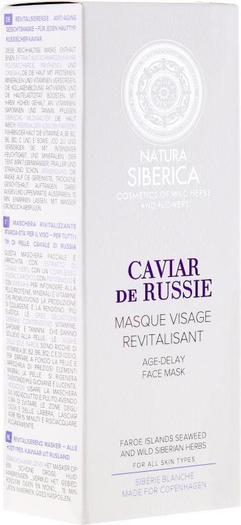 Odmładzająca maska do twarzy Przedłużenie młodości Biała Syberia - Natura Siberica Sibérie Blanche Caviar de Russie — фото N1