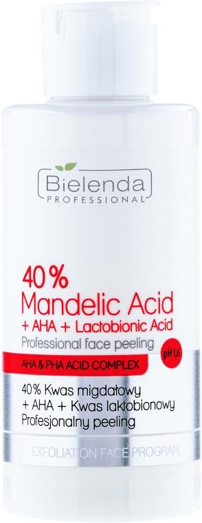 Profesjonalny peeling do twarzy z kwasami migdałowym, AHA i laktobionowym - Bielenda Professional Exfoliation Face Program 40% Mandelic Acid + AHA + Lactobionic Acid