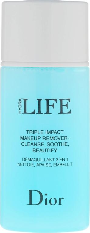 Płyn 3 w 1 do demakijażu - Dior Hydra Life Triple Impact Makeup Remover — фото N2