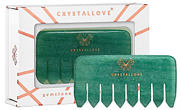 Kup Awenturynowy grzebień do masażu skóry głowy - Crystallove Aventurine Comb