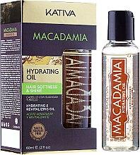 Kup Nawilżający olejek z olejem makadamia do włosów - Kativa Macadamia Hydrating Oil