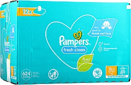 Kup Chusteczki nawilżane dla niemowląt, 12 x 52 szt. - Pampers Baby Fresh Clean